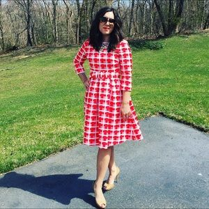 Chicwish Gingham Red & White Vintage Dress